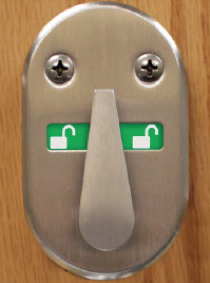 lockset type-a flip lock in the open position
