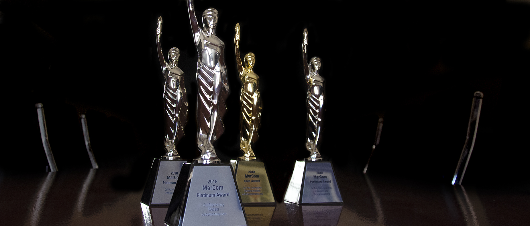 Cal Poly Corporation's Marketing and Communications department received 10 MarCom awards
