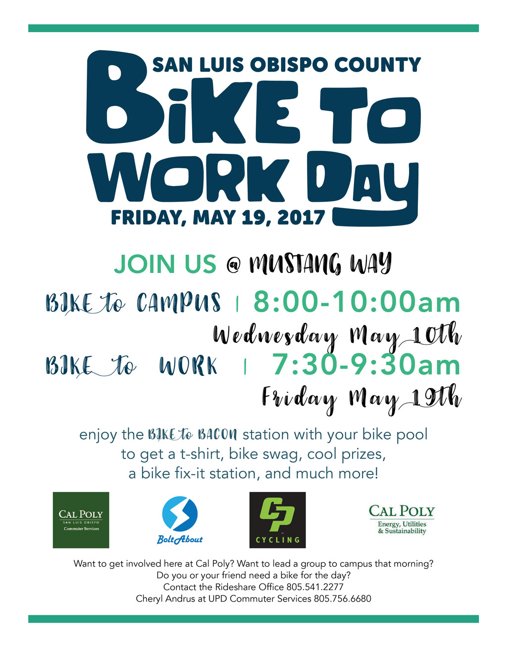 Bike to work day May 19th flyer