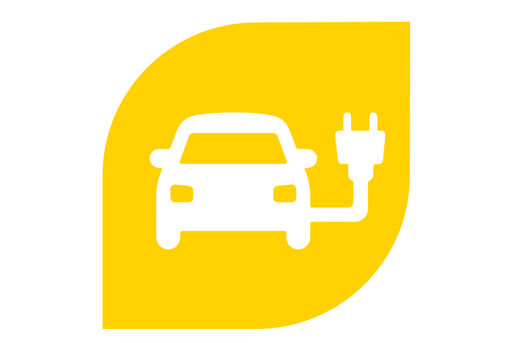 electric vehicle charging icon